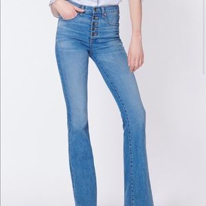 Veronica Beard Beverly skinny flare jeans in Dawn